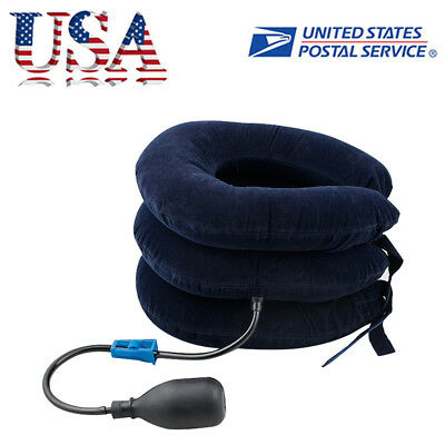 Cervical Collar Neck Relief Traction Brace Support Stretcher Inflatable Comfort Cervical Collar Neck Brace
