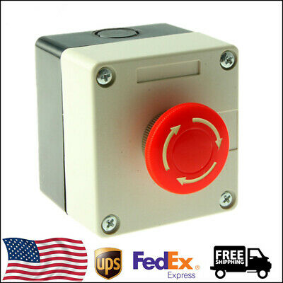 123510pcs Red Sign Emergency Stop Push Button 660v 10a Switch Us Shippping