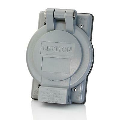 Leviton Electrical Box Cover Locking Flanged Weatherproof Thermoplastic 1 Gang