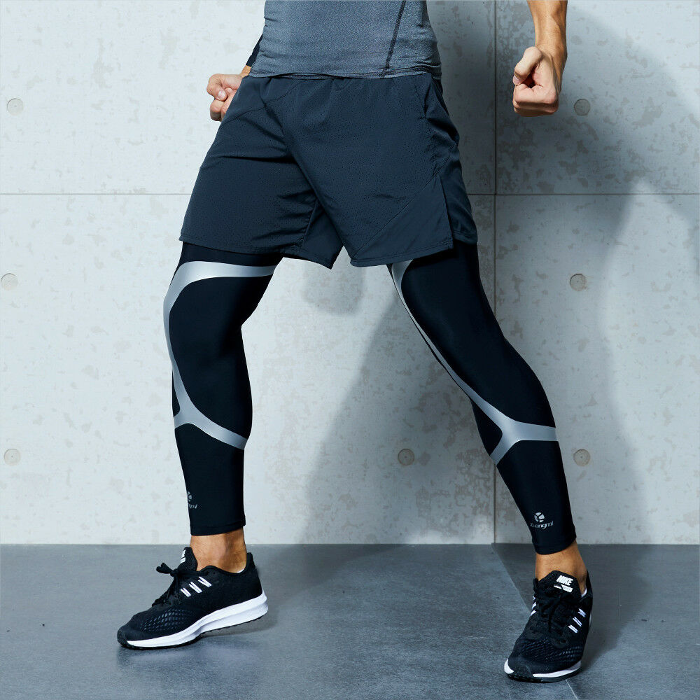 Kuangmi basketball Leg Knee Support Sleeve Compression Brace