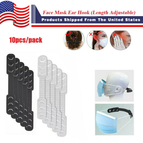 10Pcs Face Mask Ear Hook Adjustable Ear Strap Extension Cover Fixing Buckle Accessories