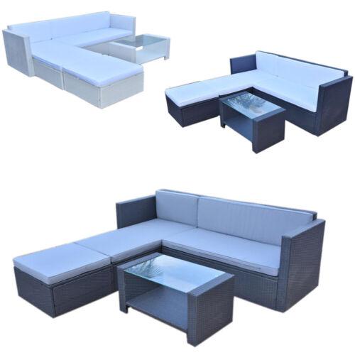 Garden Furniture - Rattan Outdoor Garden Patio Furniture Set Wicker Corner Sofa with Coffee Table