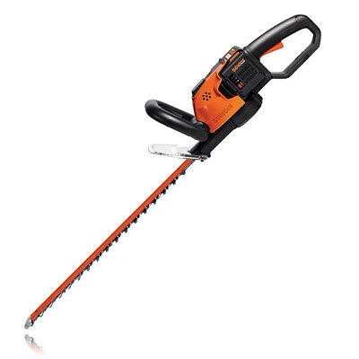 WORX WG291 56V Lithium-Ion Cordless Hedge Trimmer, 24-Inch,