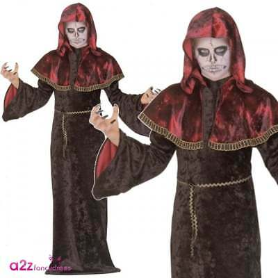 Mystic Templar Boys Kids Halloween Tudor Gothic Warlord Fancy Dress Costume