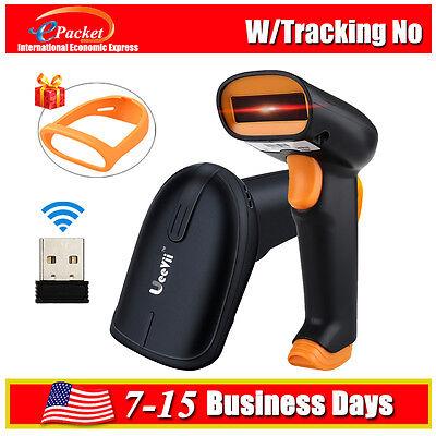 2 In 1 2.4g Wireless Wired Barcode Scanner Handheld Scanning 1d Bar Code Reader