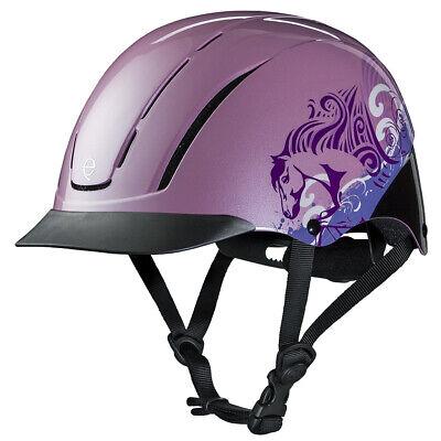 Horse Riding Helmet - U--538 Troxel Dialfit Low Profile Spirit Horse Riding Helmet Pink Dreamscape
