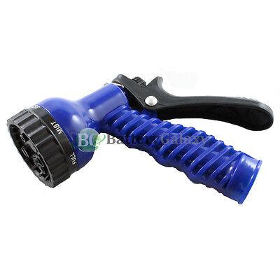 Garden Lawn Hose Nozzle Sprinkler Head Water Sprayer Blue - 7 SPRAY PATTERNS!