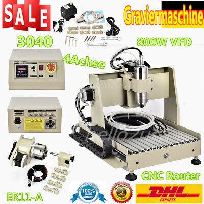 4 Axis Cnc 3040 Router Engraver 800w Desktop Milling Engraving Drilling Machine