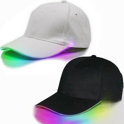 LED Light Up Baseball Cap Hat Illuminated Apparel Women Men Unisex 8 Colors Caps](Led Light Up Clothing)
