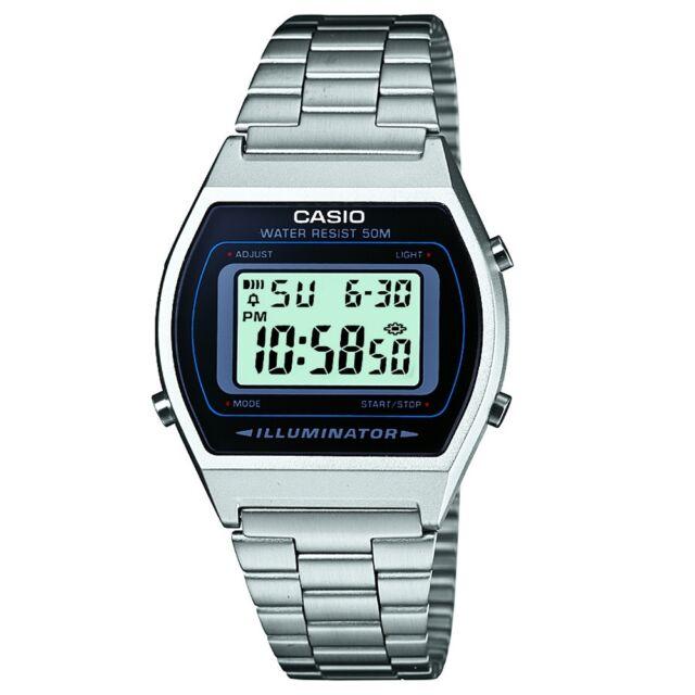 Casio B640WD-1AVEF Mens Collection Silver Steel Bracelet Watch