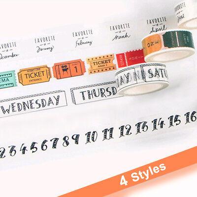 Traveler Series Washi Tape Decor Scrapbooking Masking Tape Adhesive Stickers x1