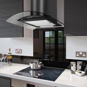 60cm Smoke Glass Cooker Hood - From Premier Range -  PRX60B