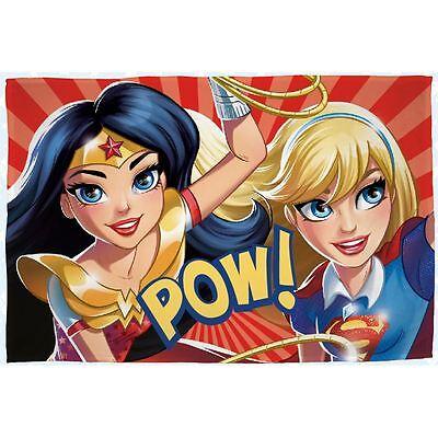 Dc Comics Superheld Mädchen Fleecedecke Neu