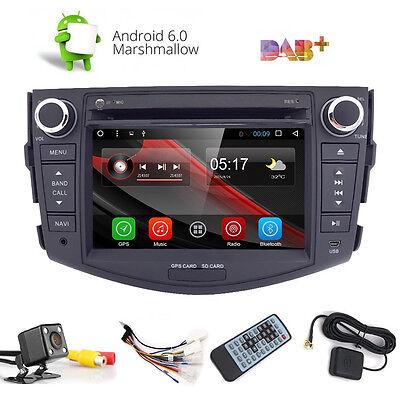 Android 6.0 2 Din Car Stereo DVD Player GPS Navi +Cam For Toyota RAV4 2007-2012