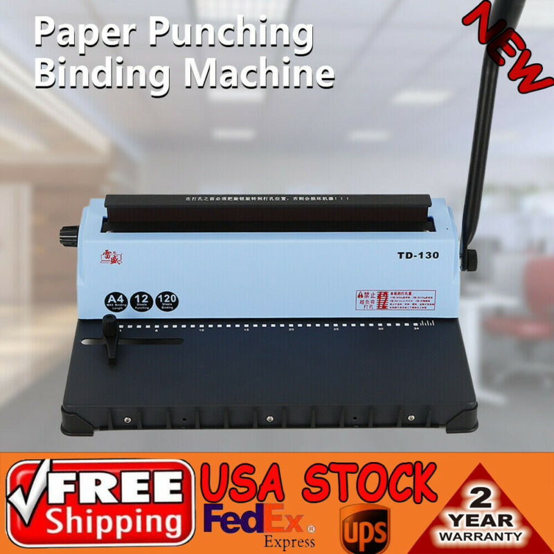 34 Square Hole Punching Spiral Coil Calendar Binding Machine Solid Handle