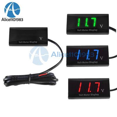 12v Digital Red Bluegreen Led Display Voltmeter Panel Voltage Meter For Car