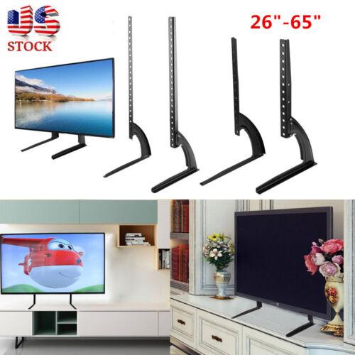Universal Flat Screen TV Stand Base Tabletop VESA Pedestal Mount LCD LED 26