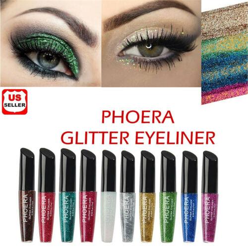 PHOERA Glitter Shimmering Liquid Eyeliner Shiny Makeup Cosmetic Beauty Tool Hot Eyeliner