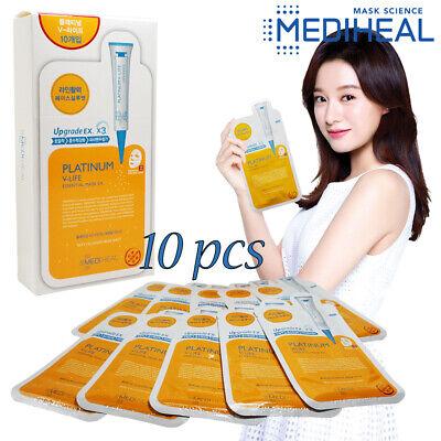 Korea Cosmetic Mask [Mediheal] PLATINUM V-Life Essential Ex. 10pcs Skin Firming