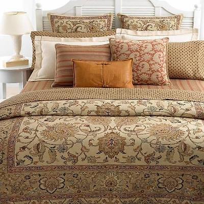 Ralph Lauren Northern Cape Natural Beige Tan11P Queen Duvet Cover Bed in Bag New