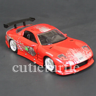 - Jada Fast and Furious Dom's Mazda RX-7 1:32 Diecast Car 98674-CP4 Red