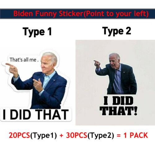 Set of 50 Joe Biden I Did That Gas Prices Humor Funny 5CM Die Cut Sticker Decal