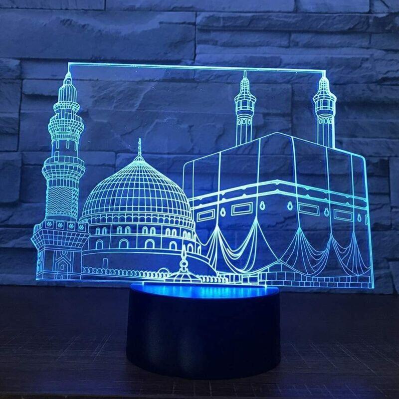 Islamic art decor 3D Led  Night Lamp Night Light 7 Color Change LED Table Desk