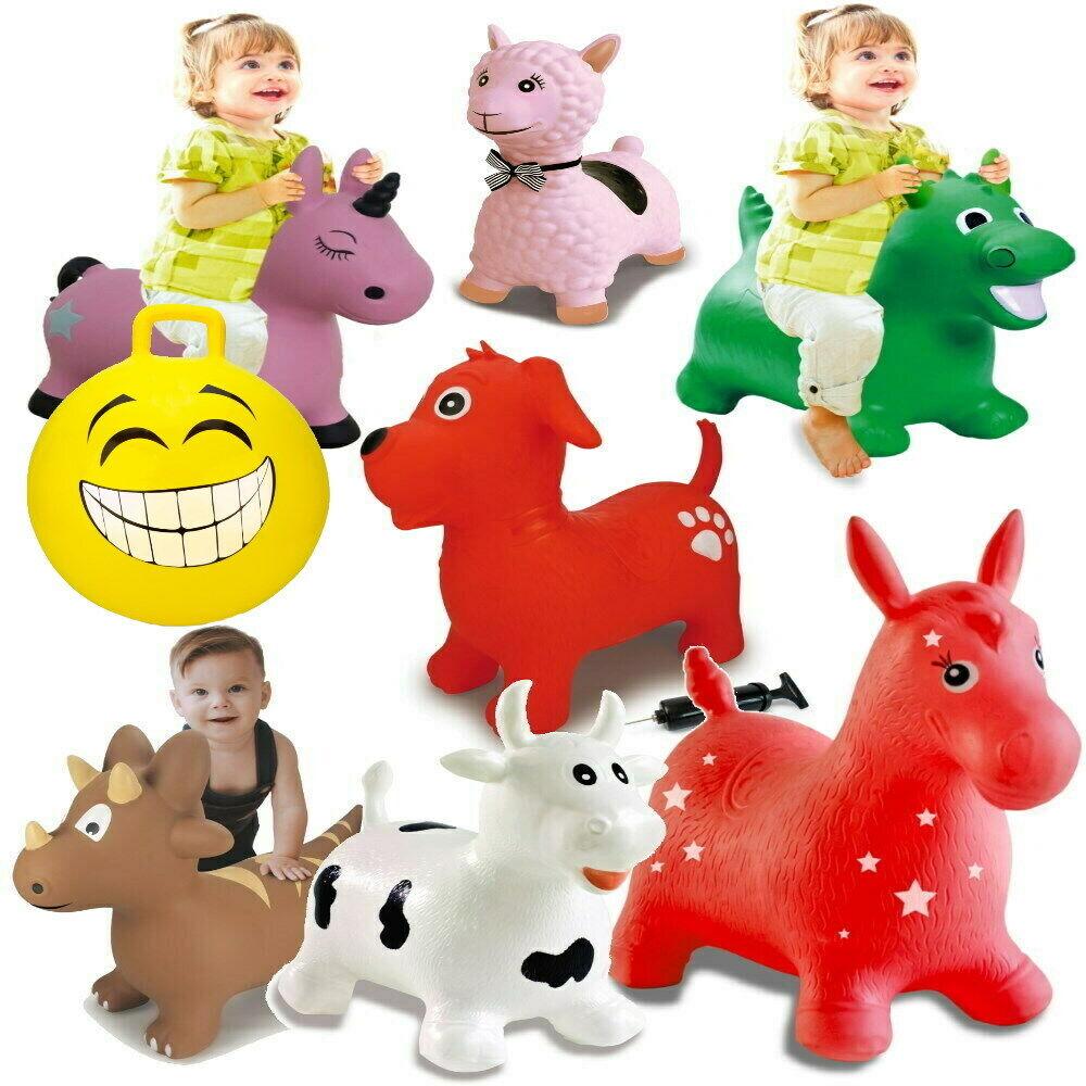 Kinder Hüpftier bis 50kg sehr Robust Hopser inkl Pumpe - Pferd Dino Einhorn Ball