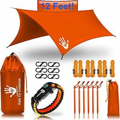 Best Tent Tarps Choice Products 12 X 10 Ft Hammock Waterproof Orange RAIN Fly