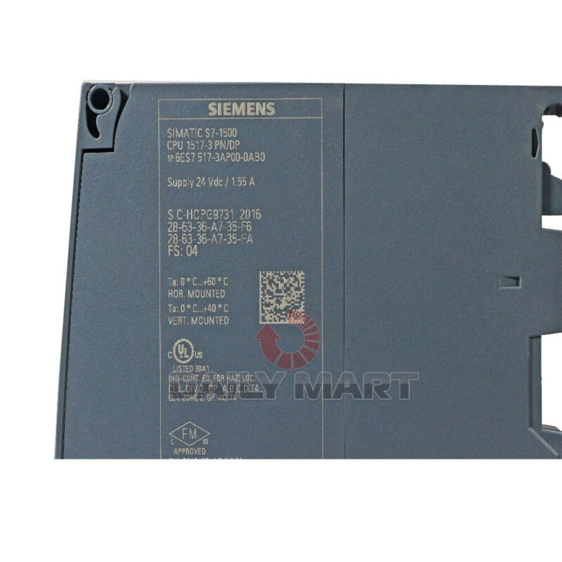 New In Box SIEMENS 6ES7 517-3AP00-0AB0 SIMATIC S7-1500 Central Processing Unit