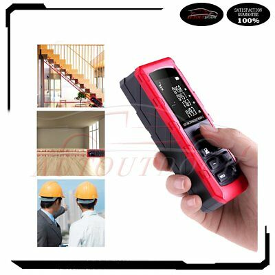 100mportable Laser Distance Meter Range Finder Measure Handheld Diastimeter Lcd
