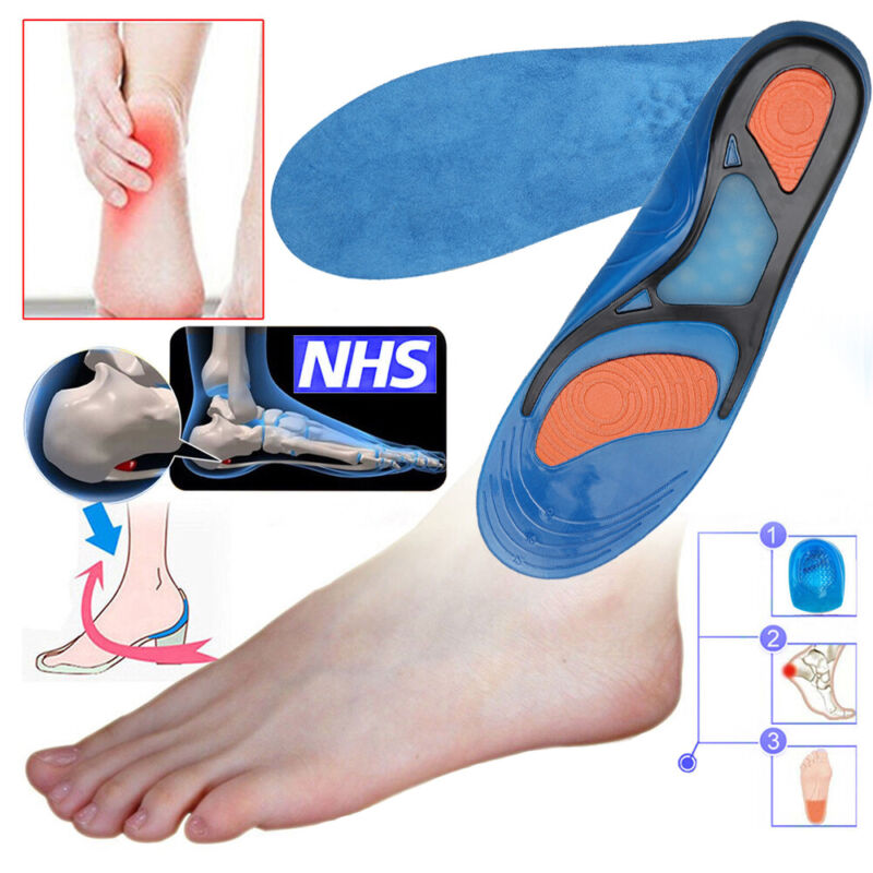 Orthotic Insoles for Arch Support Plantar Flat Feet Heel Pain Accessories LIN