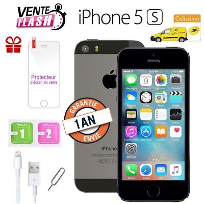 Apple iPhone 5s 64go 64GB unlocked DÉBLOQUÉ Téléphones Mobile - gris Grey FR