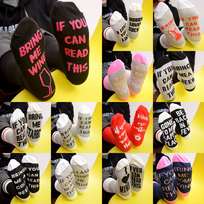 Unisex Socken If You can read this Bring Me a Glass of Wine Soft Socken Mode