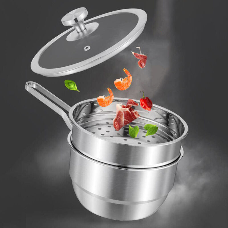 1 pc Milk Steam Pot Double-layer Steamer Cooking Pots for So