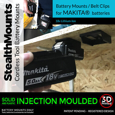 5x Stealth Mounts For Makita 18v Battery Holder Slot Shelf Rack Stand Van Drill