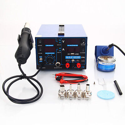 Yihua 853D 3In1 110V Smd Hot Air Gun Soldering Station For Mobile Phone Repair