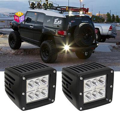 Dual 2 3X3 LED Cube Pod Spot Fog Lights Fit Truck Jeep Off-Road ATV Polaris