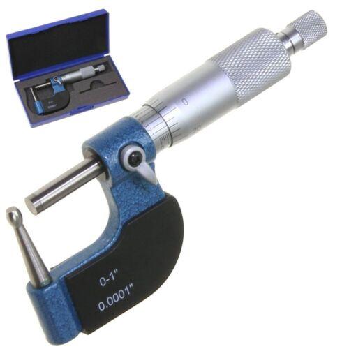 """Tube Micrometer Reloading Case Neck Ball Spherical Anvil 0-1""""/0.0001"""" Anytime"""