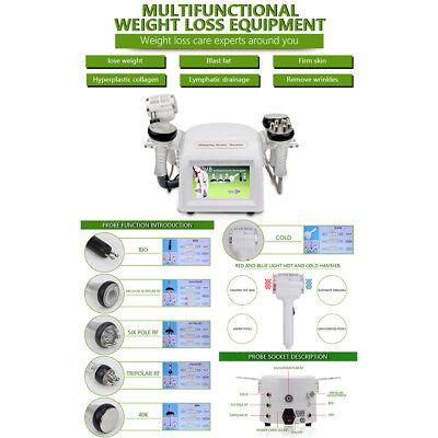 New 6 In1 Ultrasonic Cavitation Multipolar Rf Vacuum Cellulite Slimming Machine