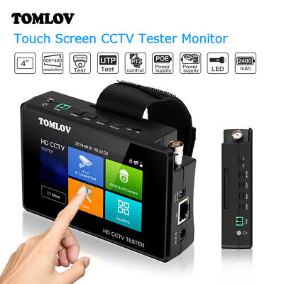 6 In 1 Portable Camera Tester 4inch Touch Screen H.265 Support Tvi Cvbs Cvi Ahd
