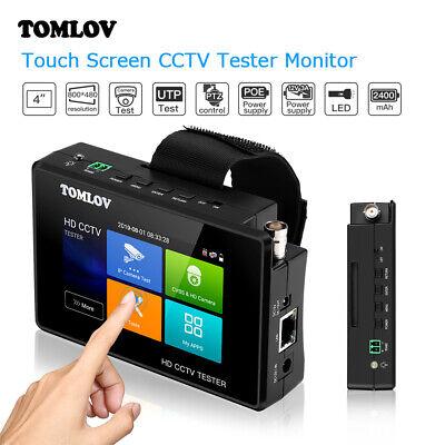 4 Inch Cctv Camera Tester 8mp 4k Ip Cvbs Ahd Cvi Tvi Ips Touchscreen H.265 Poe
