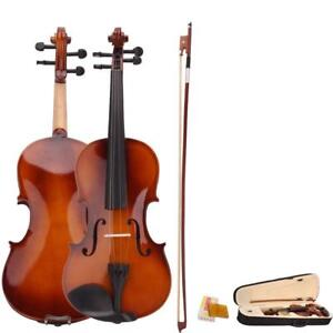 Beginner 4/4 Full Size Natural Acoustic Violin Fiddle with Case Bow Rosin ( free Shipping)