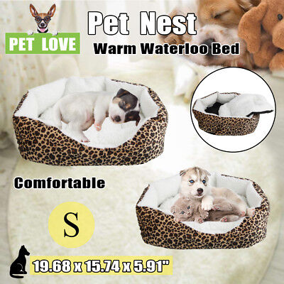 Dog Bed Kennel Small Cat Pet Puppy Bed Soft Cotton Winter Warm Waterloo w/ Pad