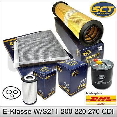 Mercedes-Benz E-Klasse W211 S211 CDI Inspektionspaket Filterset Filtersatz 4-tlg online kaufen