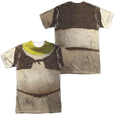 Authentic Shrek Movie Costume Outfit Uniform Sublimation Front Back T-shirt top