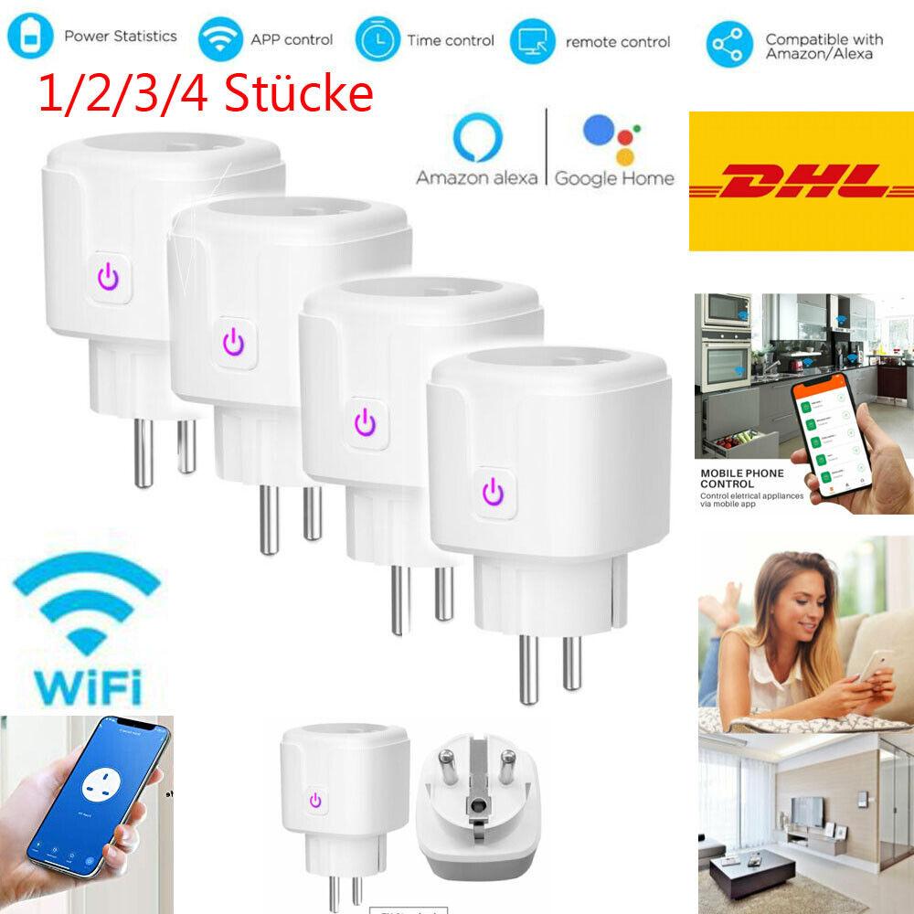 1/2/3/4 Smart Steckdose WiFi Steckdose Home Socket Alexa Google Fernbedienung