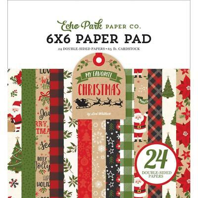 Scrapbooking Crafts EP 6X6 Paper Pad My Favorite Christmas Santa Black Red Plaid Plaid Scrapbooking Paper