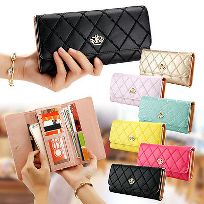 Purse Wallet (Women Lady Zipper Faux Leather Clutch Phone Bag Long Purse Wallet Card)
