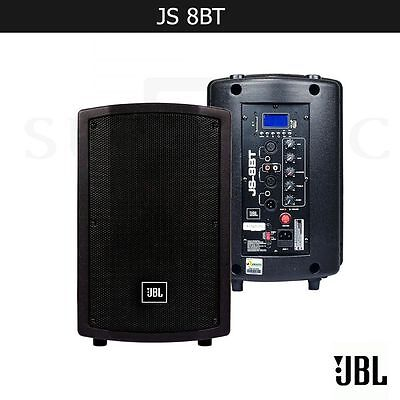 "JBL JS8BT HARMAN 8"" PRO DJ PA SPEAKER WITH BLUETOOTH LED PANEL USB AND SD INPUTS for sale  Buford"